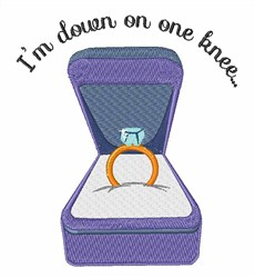 Down On One Knee embroidery design