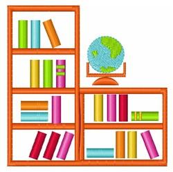 Book Shelves embroidery design