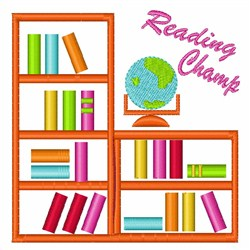 Reading Champ embroidery design