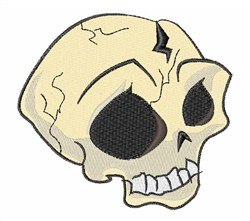 Cracked Skull embroidery design