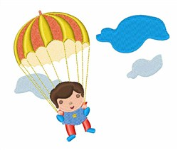 Parachute Kid embroidery design