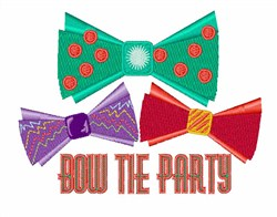 Bow Tie Party embroidery design