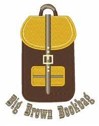 Big Brown Bookbag embroidery design