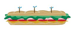 Sub Sandwich embroidery design