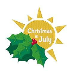 Christmas In July embroidery design
