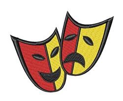 Drama Masks embroidery design