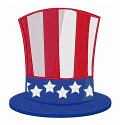 Uncle Sam Hat embroidery design