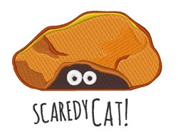 Scaredy Cat embroidery design