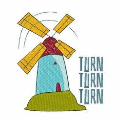 Windmill Turn embroidery design
