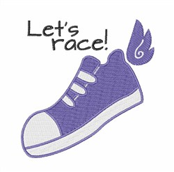 Lets Race embroidery design
