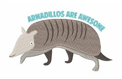 Awesome Armadillos embroidery design