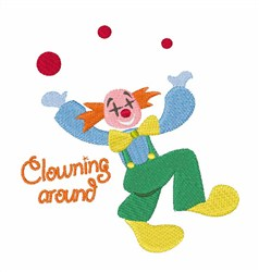 Clowning Around embroidery design
