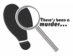 A Murder embroidery design