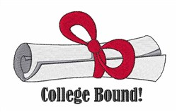 College Bound embroidery design