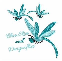 Blue Skies embroidery design