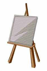 Artist Easel embroidery design