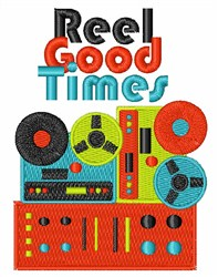 Reel Good Times embroidery design