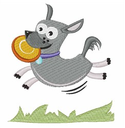 Frisbee Dog embroidery design