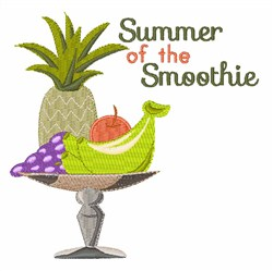 Summer Of Smoothie embroidery design