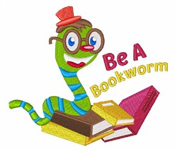 Be A Bookworm embroidery design