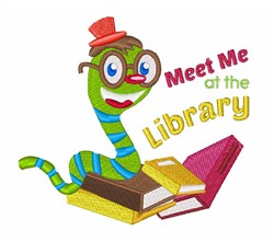 Meet At Library embroidery design
