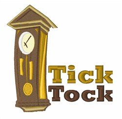 Tick Tock embroidery design