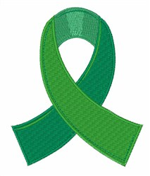Green Ribbon embroidery design