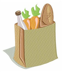Bag Of Groceries embroidery design
