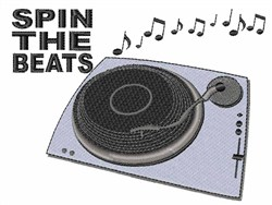 Spin the Beats embroidery design