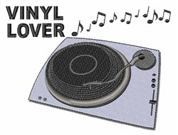 Vinyl Lover embroidery design