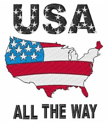 USA All the Way embroidery design