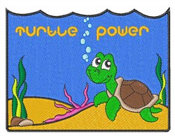 Turtle Power embroidery design