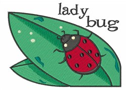 Lady Bug embroidery design