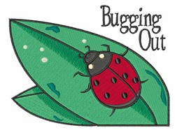 Bugging Out embroidery design