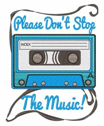 Dont Stop the Music embroidery design