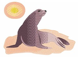 Sunbathing Sea Lion embroidery design