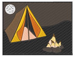 Tent Camping embroidery design