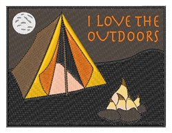 I Love the Outdoors embroidery design