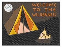 Wilderness Welcome embroidery design