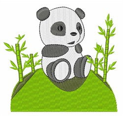 Panda Bear Cub embroidery design
