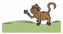 Funny Monkey embroidery design