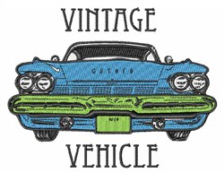 Vintage vehicle embroidery design