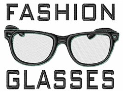 Fashion Glasses embroidery design