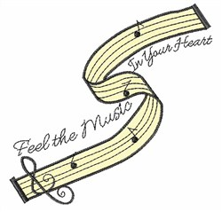 Feel The Music embroidery design