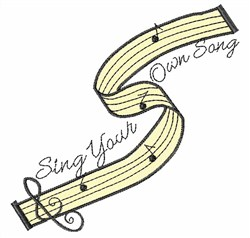 Sing Your Song embroidery design