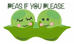 Peas If You Please embroidery design
