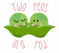 Two Peas embroidery design
