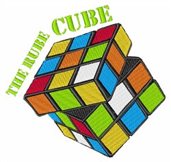 Rube Cube embroidery design