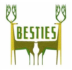 Besties embroidery design