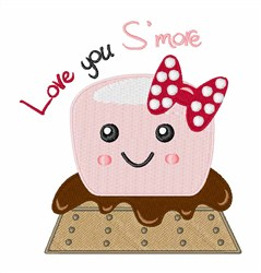 Love You Smore embroidery design